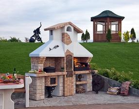Садовая печь барбекю «Трио»